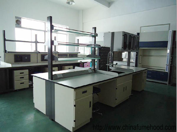Cold Rolled Metal Laboratory Working Table Chemical Resitant Laminate