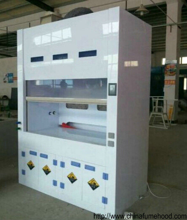 Floor Mounted Ductless Chemical Fume Hood Smart Filtration 5mm Transparent Window