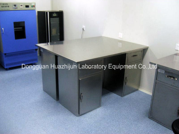 Large Capacity Stainless Steel Lab Bench 1.0mm Double Layer Side Plate
