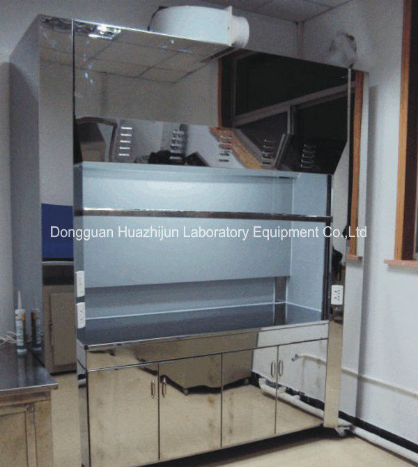 Chemistry Lab Stainless Steel Fume Hood Safety Glass Hood Vertical Raising Sash