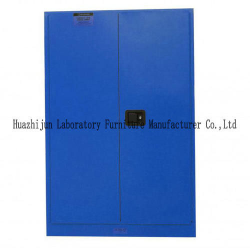 Chemical Resistant Flammable Storage Locker Blue Three - Linkage Lock