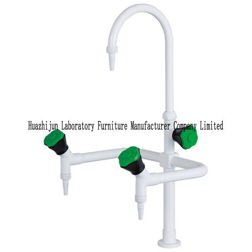 Flexible Gooseneck Lab Sink Faucets Panel Mounted Detachable Brass Serrated Nozzle