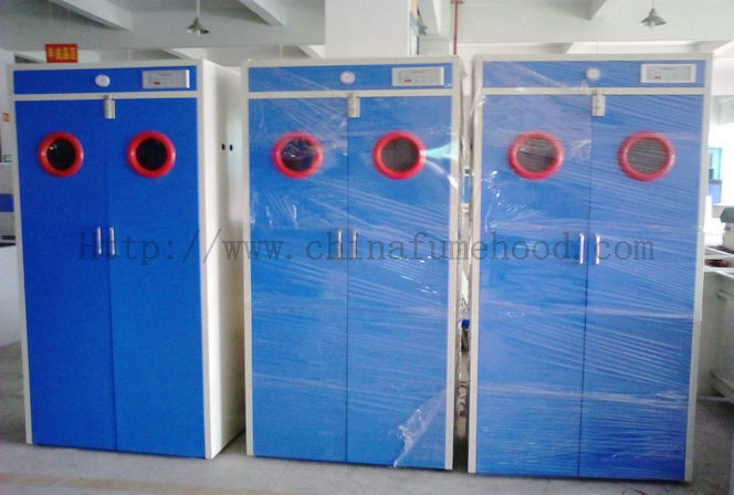 Full Steel Laboratory Storage Cabinets , Blue Gas Cylinder Safety Cabinets