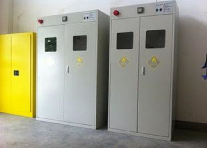 Auto Alarm Compressed Gas Cylinder Storage Cabinets Epoxy Coating Safety Furniture