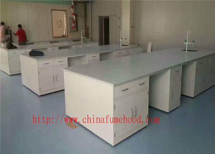 All Steel Structure Lab Central Bench For Chemical Factory and School From Huazhijun