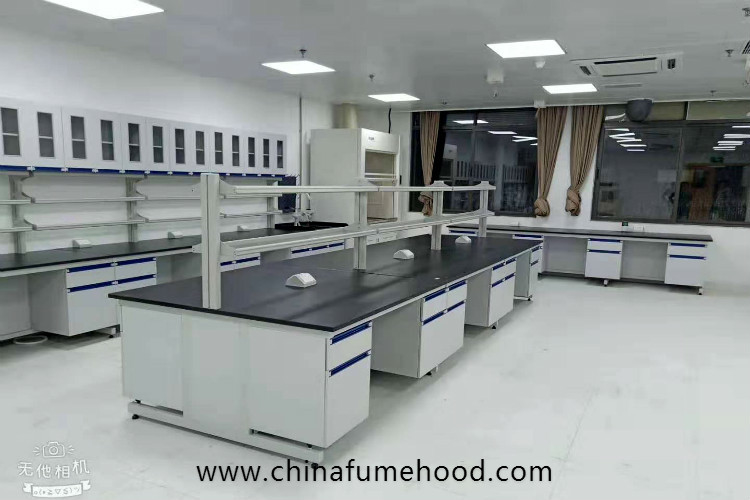 MDF Chemistry Lab Furniture Cabinets And Countertops For Inspection