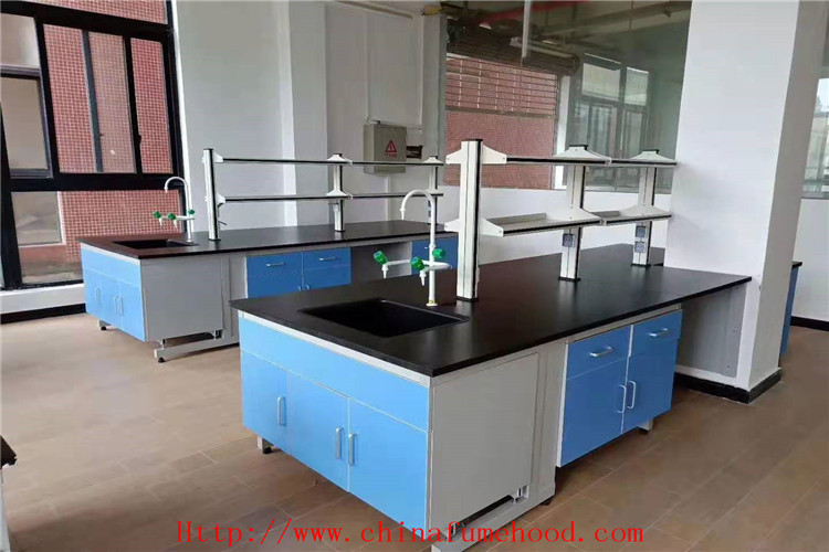 Chemical Resistance Wood Lab Work Table  For Hospital With Adjustable Foot
