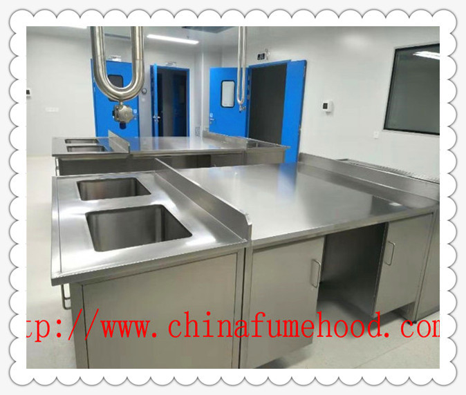 Floor Mounted Stainless Steel Lab Bench For School /  Goverment